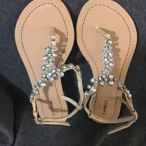 Express sandals with rhinestones